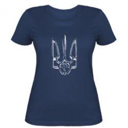 Жіноча футболка Герб України рваний