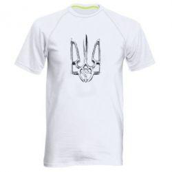 Чоловіча спортивна футболка Герб України рваний