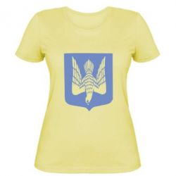 Женская футболка Герб України голуб - FatLine