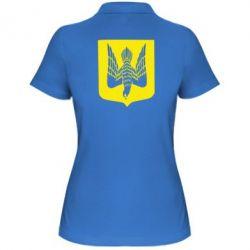 Женская футболка поло Герб України сокіл - FatLine
