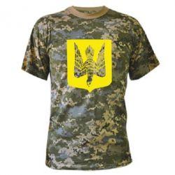 Камуфляжная футболка Герб України сокіл - FatLine