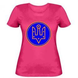 Женская футболка Герб України у колі - FatLine