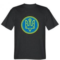 Мужская футболка Герб України у колі - FatLine