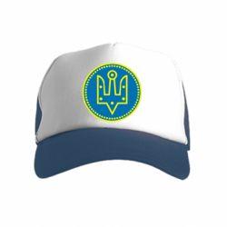 Дитяча кепка-тракер Герб України у колі