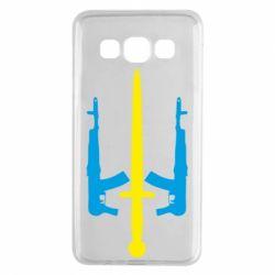 Чохол для Samsung A3 2015 Герб України з автоматами та мечем
