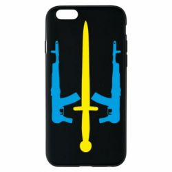 Чохол для iPhone 6/6S Герб України з автоматами та мечем