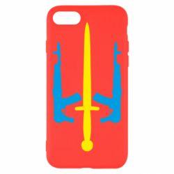 Чохол для iPhone 8 Герб України з автоматами та мечем