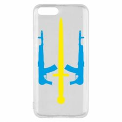 Чехол для Xiaomi Mi6 Герб України з автоматами та мечем