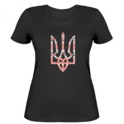 Женская футболка Герб України з національніми візерунками - FatLine