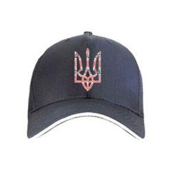 кепка Герб України з національніми візерунками - FatLine