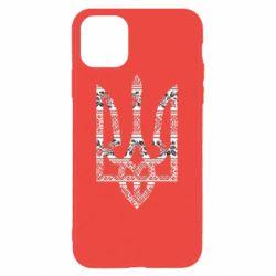 Чехол для iPhone 11 Pro Герб України з національніми візерунками