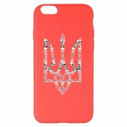 Чехол для iPhone 6 Plus/6S Plus Герб України з національніми візерунками