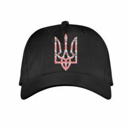 Детская кепка Герб України з національніми візерунками - FatLine