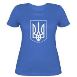 Женская футболка Герб України з рамкою - FatLine