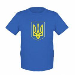 Детская футболка Герб України з рамкою - FatLine