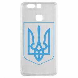 Чехол для Huawei P9 Герб України з рамкою - FatLine