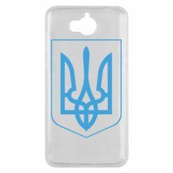 Чехол для Huawei Y5 2017 Герб України з рамкою - FatLine