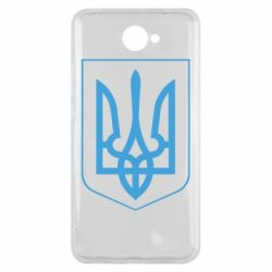 Чехол для Huawei Y7 2017 Герб України з рамкою - FatLine