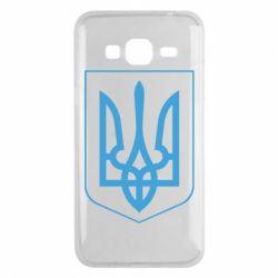Чохол для Samsung J3 2016 Герб України з рамкою
