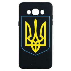 Чехол для Samsung J7 2016 Герб України з рамкою - FatLine