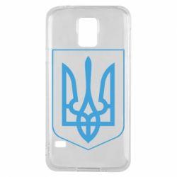 Чехол для Samsung S5 Герб України з рамкою - FatLine