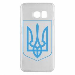 Чехол для Samsung S6 EDGE Герб України з рамкою - FatLine