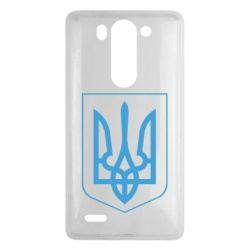 Чехол для LG G3 mini/G3s Герб України з рамкою - FatLine