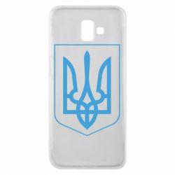 Чехол для Samsung J6 Plus 2018 Герб України з рамкою - FatLine