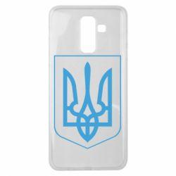 Чохол для Samsung J8 2018 Герб України з рамкою