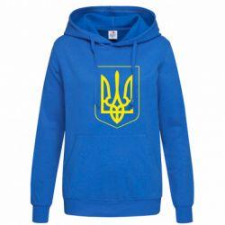 Женская толстовка Герб України з рамкою - FatLine