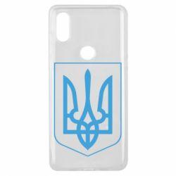 Чехол для Xiaomi Mi Mix 3 Герб України з рамкою - FatLine