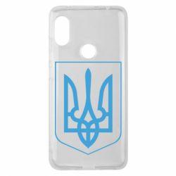 Чехол для Xiaomi Redmi Note 6 Pro Герб України з рамкою - FatLine