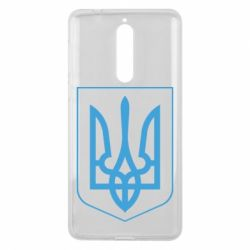 Чехол для Nokia 8 Герб України з рамкою - FatLine