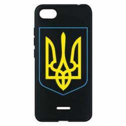 Чехол для Xiaomi Redmi 6A Герб України з рамкою - FatLine