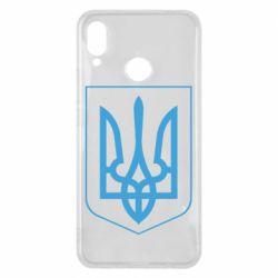 Чехол для Huawei P Smart Plus Герб України з рамкою - FatLine