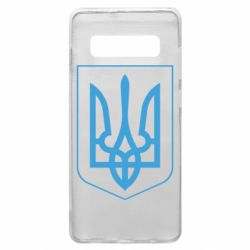 Чохол для Samsung S10+ Герб України з рамкою