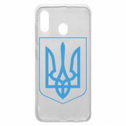 Чехол для Samsung A20 Герб України з рамкою