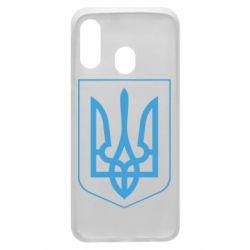 Чехол для Samsung A40 Герб України з рамкою