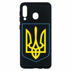 Чохол для Samsung M30 Герб України з рамкою