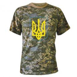 Камуфляжная футболка Герб України з рамкою - FatLine