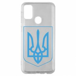 Чехол для Samsung M30s Герб України з рамкою