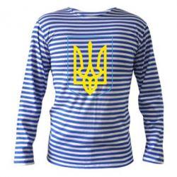 Тельняшка с длинным рукавом Герб України з рамкою - FatLine