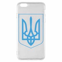 Чехол для iPhone 6 Plus/6S Plus Герб України з рамкою