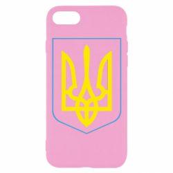 Чехол для iPhone 7 Герб України з рамкою - FatLine