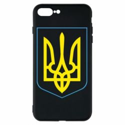 Чехол для iPhone 7 Plus Герб України з рамкою