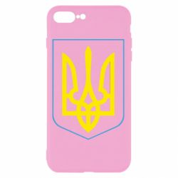 Чехол для iPhone 8 Plus Герб України з рамкою - FatLine