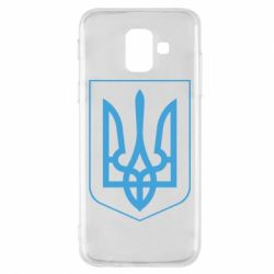 Чехол для Samsung A6 2018 Герб України з рамкою
