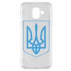 Чехол для Samsung A6 2018 Герб України з рамкою - FatLine
