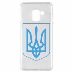 Чехол для Samsung A8 2018 Герб України з рамкою