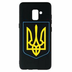 Чехол для Samsung A8+ 2018 Герб України з рамкою